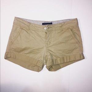 Aeropostale Cuffed Shorts Double Pocket Flat Lay